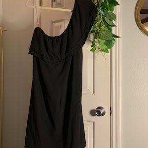 Black One Shoulder Sheath Dress
